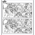 Bible coloring pages - 10 differences - Jacob
