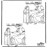 Bible coloring pages - 10 differences Naaman