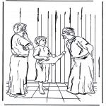 Bible coloring pages - 12 year Jesus