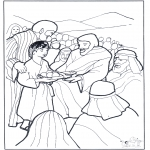 Bible coloring pages - 5 bread and 2 fish 3