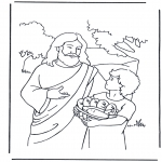 Bible coloring pages - 5 bread and 2 fish 4