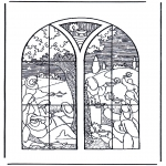 Bible coloring pages - 5 wise and 5 foolish girls