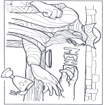 Bible coloring pages - A sign on the wall