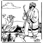Bible coloring pages - Abraham and Sara