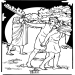 Bible coloring pages - Adam and Eve