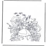 Comic Characters - Alice in Wonderland 1