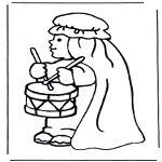 Bible coloring pages - Angel hosanna