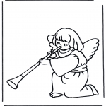 Bible coloring pages - Angel