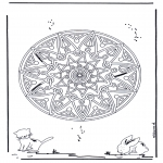 Mandala coloring pages - Animal geomandala 2