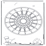 Mandala Coloring Pages - Animal geomandala 4
