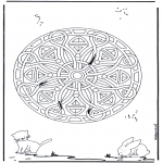 Mandala coloring pages - Animal geomandala 5