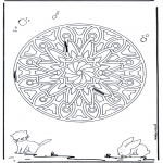 Mandala coloring pages - Animal geomandala 6