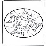 Crafts pricking cards - Animalprickingcard