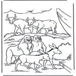 Bible coloring pages - Animals in the arch