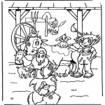 Animals coloring pages - Animals on the farm