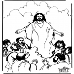 Bible coloring pages - Ascension 1
