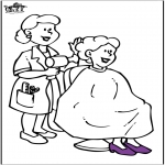 All sorts of - At the hairdresser