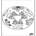 Mandala Coloring Pages - Autumn mandala 1