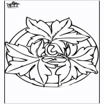 Mandala Coloring Pages - Autumn mandala 2