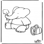 Kids coloring pages - Babar 16