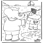 Kids coloring pages - Babar 19