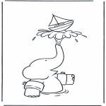 Kids coloring pages - Babar 2