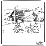 Winter coloring pages - Babar winter