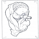 Theme coloring pages - Baby 1