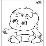 Theme coloring pages - Baby 12