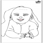Theme coloring pages - Baby 15