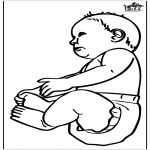 Theme coloring pages - Baby 16