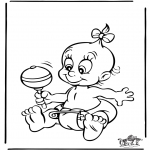 Theme coloring pages - Baby 4