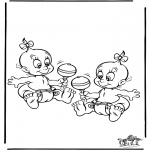 Theme coloring pages - Baby 5