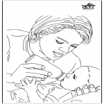 Theme coloring pages - Baby en mother 1