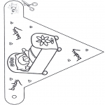 Theme coloring pages - Baby flag 1