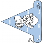 Theme coloring pages - Baby flag 2