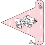 Theme coloring pages - Baby flag 3