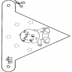 Theme coloring pages - Baby flag 4