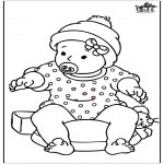 Theme coloring pages - Baby girl 2