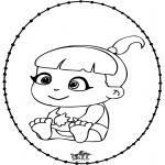 Theme coloring pages - Baby - Pricking card 2