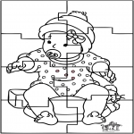 Theme coloring pages - Baby puzzle 1