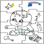 Theme coloring pages - Baby puzzle 2