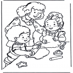 Kids coloring pages - Baking