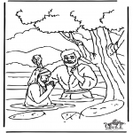Bible coloring pages - Baptism Jesus