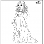 Comic Characters - Barbie wedding dress