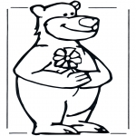 Animals coloring pages - Bear