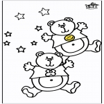 Animals coloring pages - Bears