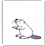Animals coloring pages - Beaver