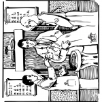 Bible coloring pages - Bible baptism 1