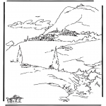 bible times village coloring pages - photo#10
